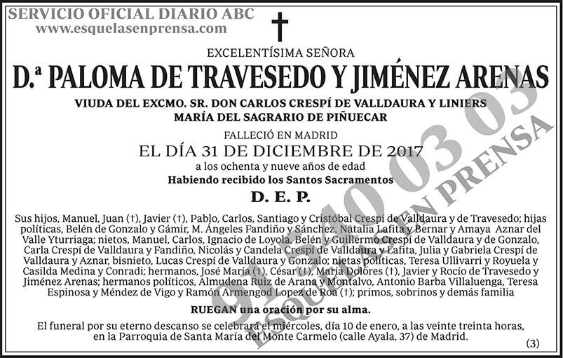 Paloma de Travesedo y Jiménez Arenas